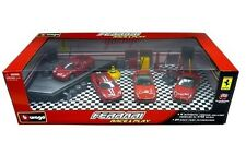 BBURAGO FERRARI RACE & PLAY SET GIFT PACK WITH 4 CARS & ACCESSORIES 18-31214 A