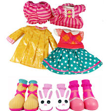 3x LALALOOPSY DOLL Fashion Clothing Outfit Clothes Dress Pajamas Raincoat Shoes