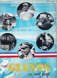 1947 NEW YORK GIANTS YEARBOOK BASEBALL  FIRST YEAR YEARBOOK