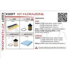 KIT 4 FILTRI TAGLIANDO FIAT IDEA 1.3 MULTIJET MJT 51/66 KW 05->