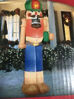 Gemmy Airblown Inflatable Redneck Nutcracker 7.5 Ft Christmas Yard Decoration