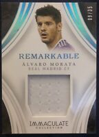 2017 PANINI IMMACULATE REMARKABLE ALVARO MORATA REAL MADRID 09/35 JERSEY PATCH
