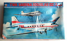 Esci TWA Sabena Douglas DC-3 Airliner 1/72 scale model kit sealed 9014