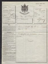 TELEGRAMME PARIS à REIMS  JANVIER 1864 ..très  RARE