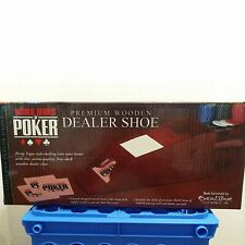 World Series Of Poker Premium Wood Dealer Shoe Made Exclusively By Xcalibur New