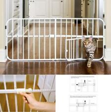 Pet Gates With Door For Stair Dogs Extra Wide Gate Adjustable Durable Convenient