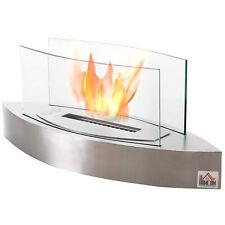 Indoor Outdoor Bio Ethanol Fireplace Fire Pit Pot Bowl Backyard Stainless Steel