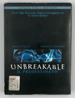 Unbreakable Il predestinato Cofanetto Collector's Edition Bruce Willis 2 DVD