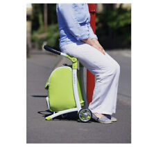 BRAND NEW Lightweight Shop 'N' Sit Shopping Trolley Seat & Bag- Green