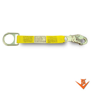 """18"""" x 1 3/4"""" D-ring extension strap with a D-ring on one end, locking snap 1418"""