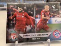 2018 Topps Now UEFA Mohamed Salah Arjen Robben Liverpool Bayern Card R8 PR: 75