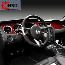 Carbon Fiber Dashboard Instrument Panel Trim Cover For Ford Mustang 2009-2013