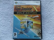 FLIGHT SIMULATOR X GOLD EDITION FSX PC-DVD ( brand new & security tag sealed )
