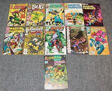 Lot 11 Marvel Comics 1980's & 90's Sleepwalker, The Punisher, Bug (Set #18)