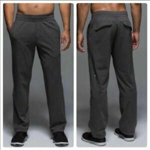 Lululemon Kung Fu Black Camouflage Straight Leg Sweatpants Large Regular