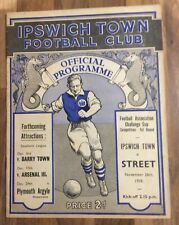 More details for very rare football prog ipswich v street, fa cup, town biggest ever win 26/11/38