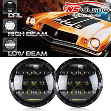 LED Headlight For Chevrolet Camaro 1967-1981 7'' inch Round Projector DRL Lights