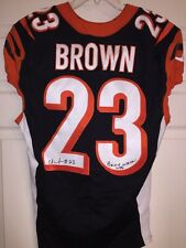 Chykie Brown Game Used Worn Cincinnati Bengals Jersey Signed & Inscribed Texas