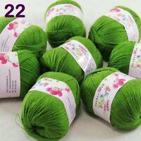 Sale 8 Skeinsx50gr DK Baby Cashmere Silk Wool Children Hand Knit Crochet Yarn 22