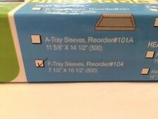 """Dental F Tray Barrier Sleeves Clear Disposable 7 1/2"""" x 10 1/2"""" 500pk"""