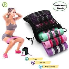 3 Packs Workout Resistance Bands Fitness Yoga Pilates Exercise Bands for Leg&hip