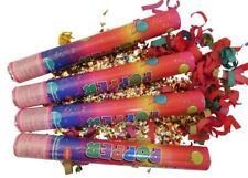 4xKonfettikanonen bunt 40 cm Konfetti Shooter Hochzeit Karneval Fasching Kanone