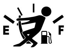 Gas Consumption Vinyl Decal, Sticker, Gas Tank , Fuel Gauge, JDM, Empty, Funny !