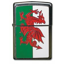 Zippo 200W Wales Brushed Chrome / Silver lighter - Petrol Windproof - Gift Box