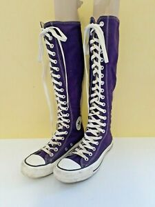 Converse All Star UK 5 Purple Long Lace Up Boots