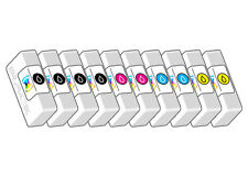 10 CARTUCCE COMPATIBILE PER STAMPANTE EPSON STYLUS SX115 SX 115 KIT 10 PZ