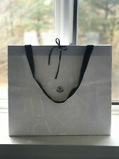 "Moncler White Embossed Paper Gift Shopping Bag Large 19.0"" x 16.5"" x 6"""