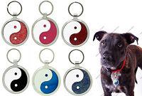 Pet Tags Custom Engraving Yin Yang Dog Tag Charm Pettag Collar Id engraved