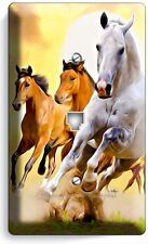 LIPIZZAN STALLION MUSTANG HORSES PHONE JACK TELEPHONE WALL PLATE COVER HOME ART