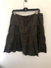 Splendid Brown Ruffle Skirt Size Large