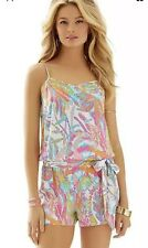 Lilly Pulitzer DEANNA Romper In SCUBA TO CUBA Size Large
