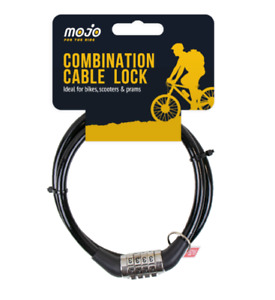 COMBINATION NUMBER CODE BIKE LOCK BICYCLE CYCLE STEEL CABLE BLACK. UK SAFE