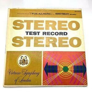 Realistic RadioShack Stereo Test Record | 1969 Audio Fidelity | Vinyl LP | NM/VG