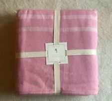 Pottery Barn Kids Stripe Twin Bed Blanket Quilt ~ Pink