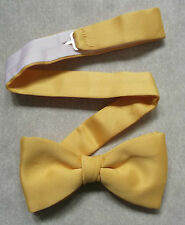 VINTAGE MENS DICKIE BOW TIE BOWTIE 1980s 1990s GOLDEN YELLOW ADJUSTABLE