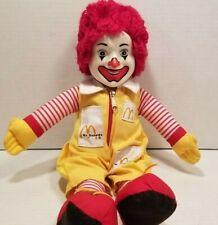 Vintage 1984 Ronald McDonald Doll Plush Toy 14 inch McDonalds Advertising
