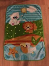 FISHER PRICE PRECIOUS PLANET LION POLAR BEAR STAR TODDLER PLUSH BLANKET 30 X 45""