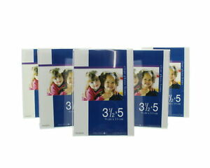 """Lot of 6 Stand Up Clear Photo Frames Acrylic 3.5"""" x 5"""""""
