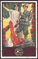 ALPINI 10 Associazione Nazionale A.N.A. Illustratore PIPPO RAVERTA Cartolina