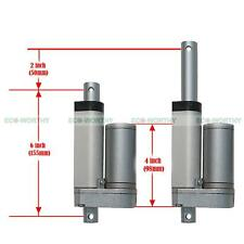 900N/200lbs Max Lift 10mm/s 12V Linear Actuator DC Electric Motor Mount Brackets