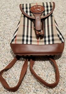 Vintage Burberry Mini Backpack