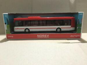 1/43 Norev Plastigam autobus bus Citelis rouge et blanc  neuf boîte d' origine
