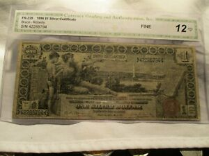 1896 EDUCATIONAL NOTE BRUCE-ROBERTS S/N 42285794 SILVER DOLLAR NOTE .. FREE SHIP