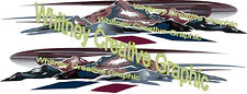 "MONTANA Mountain Scene RV Graphic Lettering decal set of 2 118""X22"""