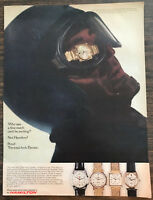 ORIGINAL 1966 Hamilton Wristwatches PRINT AD Man With Watch in Goggles