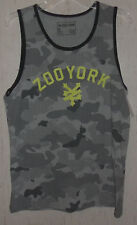NWT MENS ZOO YORK GRAY CAMOUFLAGE SLEEVELESS T- SHIRT / TANK  SIZE M